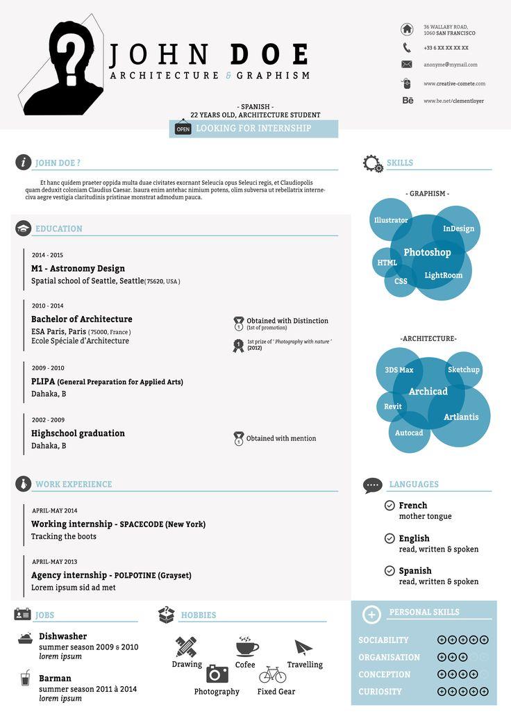 infographic resume curriculum vitae in infografica