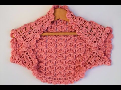 Bolero o torera niña  a crochet muy facil a juego con vestido - YouTub