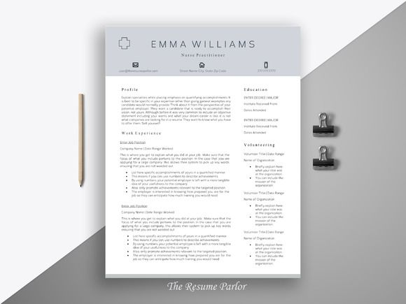 Nursing Resume Template, Registered Nurse Resume
