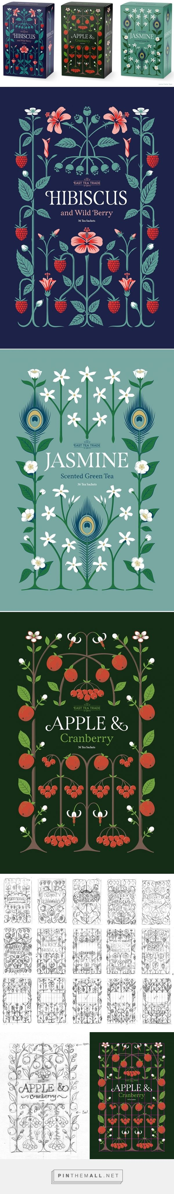 Tea Patterns & Lettering on Behance... - a grouped images picture - Pin Them All