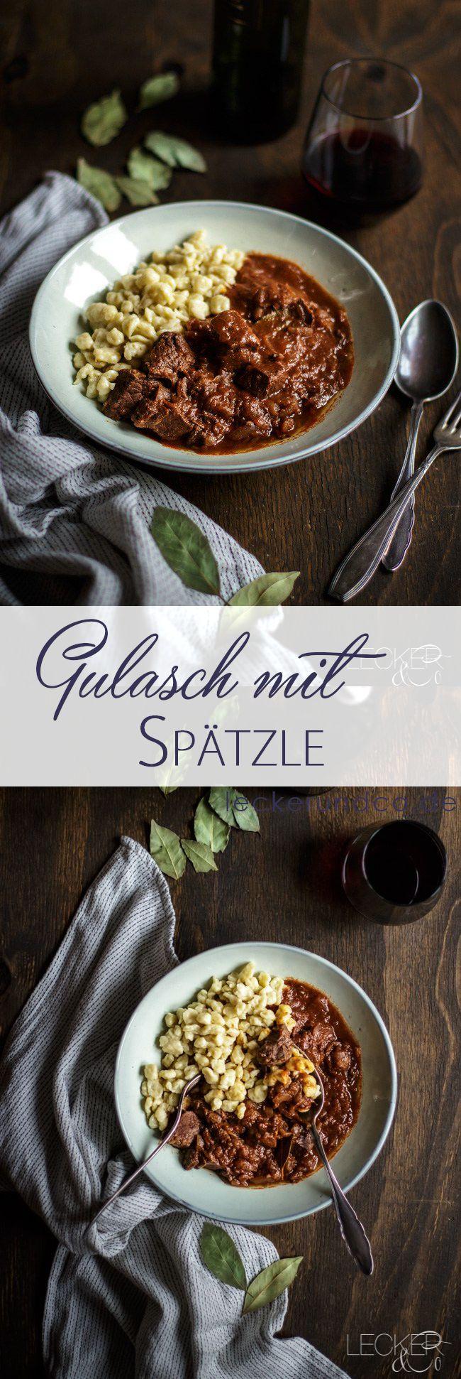 Gulasch mit Spätzle