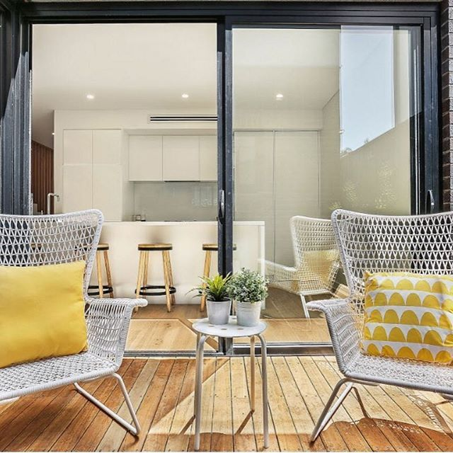 Who is looking forward to the weekend? We have a couple of chairs ready for relaxing at the Windsor in Matraville, will you be joining us? #Friday #Friyay #matraville #windsor #windsormatraville #pinnacleplus #interiordesign #designerhome #sydneyapartments #sydneyhomes #propertydeveloper #deck #verandah #home #realestate