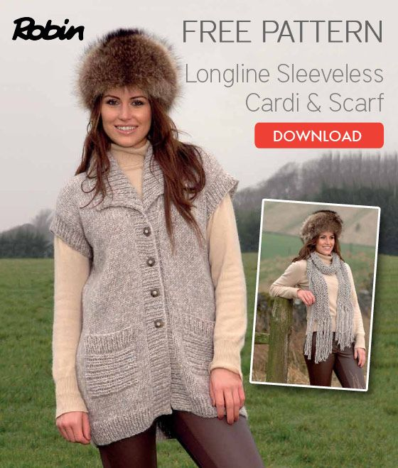 Loose Knit Scarf Pattern Free : Two free knitting patterns: chunky tunic cardigan and loose-knit scarf Knit...