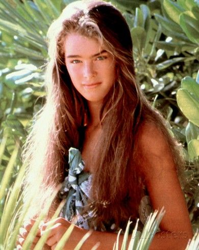 """Press photo of Brooke Shields for the 1980 movie """"Blue Lagoon."""""""