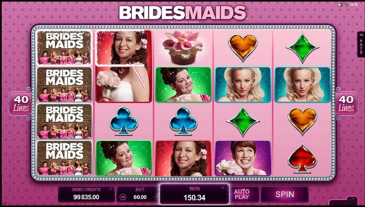 Automatové hry Bridesmaids zadarmo - V automatovej hre Bridesmaids zadarmo si prídu na svoje aj ženy, ktoré by si chceli prežiť svadobné prípravy v podobe hry podľa známej komédie Družičky (Bridesmaids). Je sa načo pozerať, keďže tento automat ponúka 6 rôznych bonusov a špeciálnych funkcií, a preto uspokojí aj tú najnáročnejšiu hráčku. #Bridesmaids #hracie #automaty #vyherneautomaty #hracieautomaty #automatovehry #jackpot #vyhra