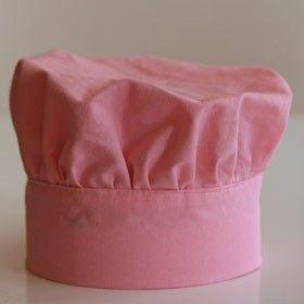 Toque de cuisinier / mettre elastique au dos pour regler en fonction de la tête