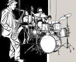 Carta da parati jazz band - arte - artistico • PIXERS.it