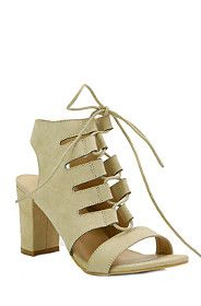 LACE UP BLOCK HEEL