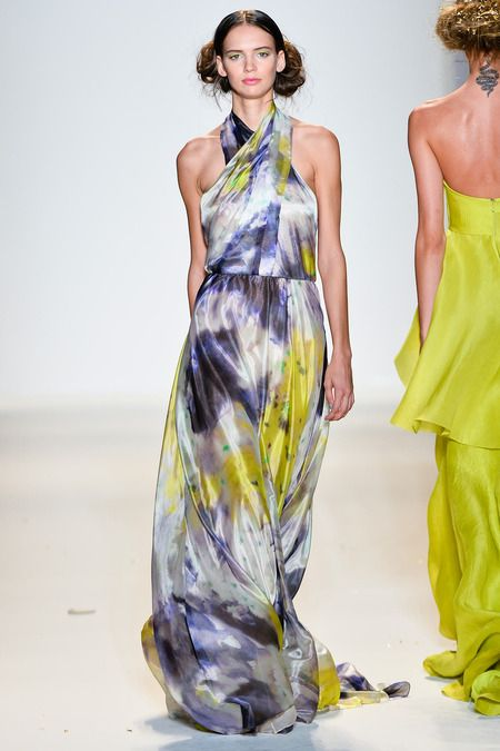 Lela Rose | Spring 2014 Ready-to-Wear Collection | Style.com -- lovely pattern adn shape