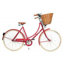 Pashley Britannia Womens Traditional Hybrid Bike - Red