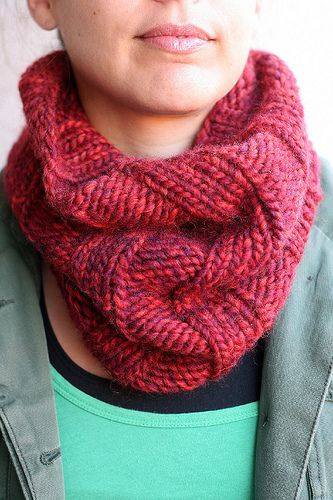 Knitted Head Scarf Pattern : After I finish Madies knitted headband, Im making one of these! C...