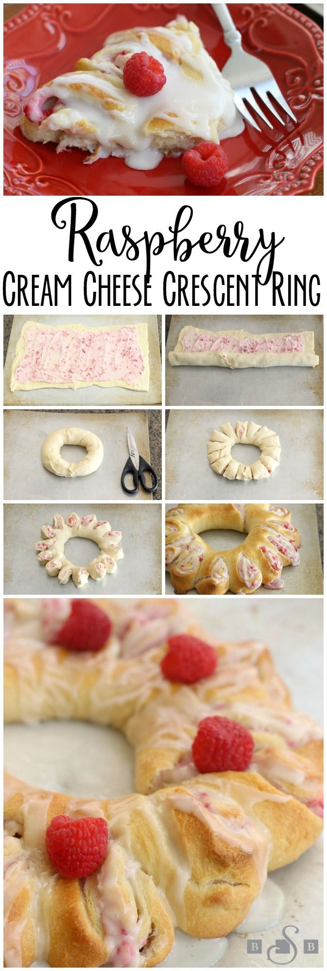 Raspberry Cream Cheese Crescent Ring- Butter With A Side of Bread