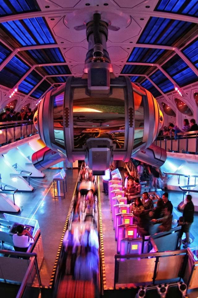 Space Mountain, Tomorrowland, Magic Kingdom, Disney World, Orlando, Florida - Fave Ride!