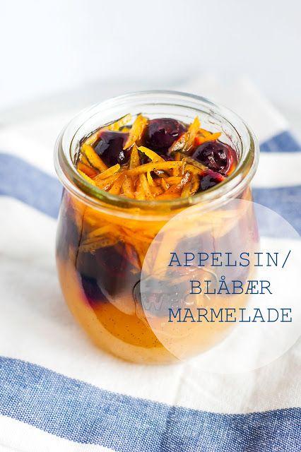 Mad på 4 sal: Appelsin/blåbær marmelade