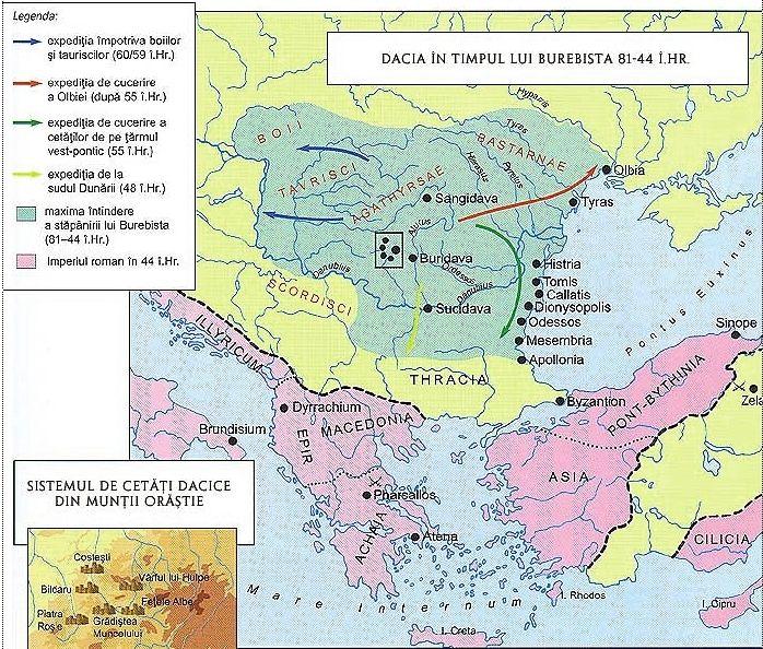Dacia in time of Burebista