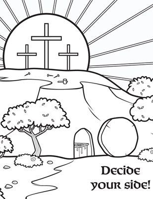 bible coloring pages jesus resurrection - 17 best images about bible story resurrection on