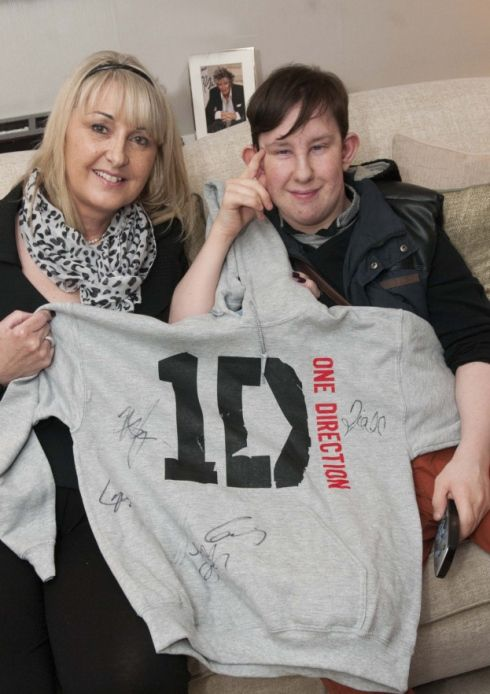 In 2013,   One Direction donated the hoodie above, which includes the signature of each band member,  for an auction to raise aid for the children's charity.    ** http://www.hamhigh.co.uk/polopoly_fs/1.1791804!/image/2520427046.jpg_gen/derivatives/landscape_490/2520427046.jpg