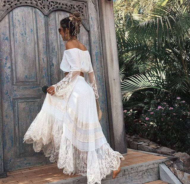 Boho gipsy wedding dress