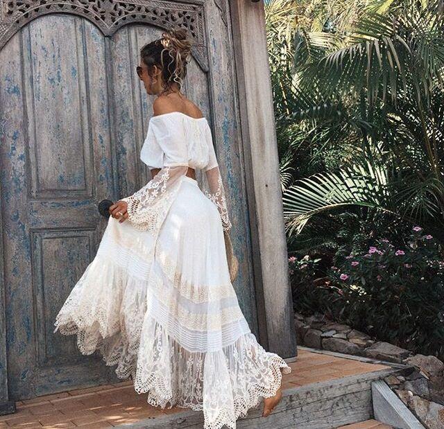 Boho gipsy wedding dress