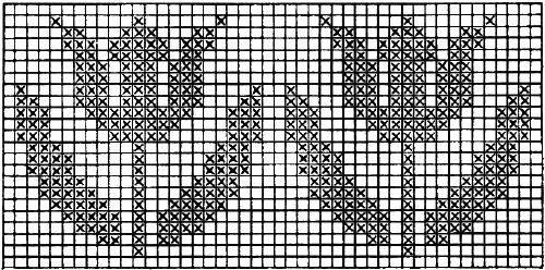Flower Charts Filet Crochet Cross Stitch Embroidery Free Patterns - KarensVariety.com