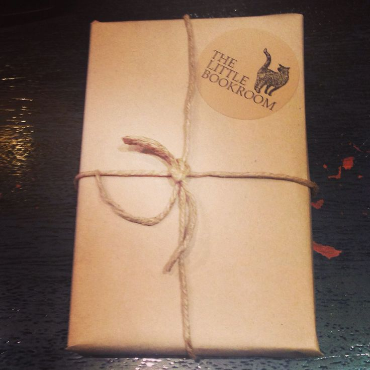 Brown paper package tied up with string #book