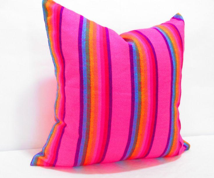 Cinco de Mayo Tribal pillow cover 18x18, Pink Cushion,  Pillow Covers, Bohemian Decor, Boho Bedding, Mexican Cushion,  tribal pillowcase by CityGirlsDecor on Etsy https://www.etsy.com/listing/256116805/cinco-de-mayo-tribal-pillow-cover-18x18