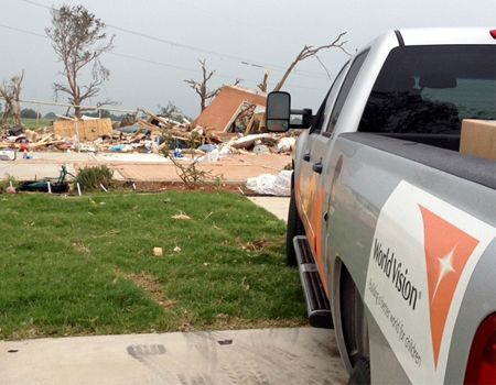 A World Vision U.S. programs team conducted an assessment visit to Granbury, Texas, following the tornadoes that took place there on May 15, 2013.