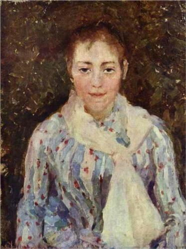 Portrait of the artist v v wulf konstantin korovin