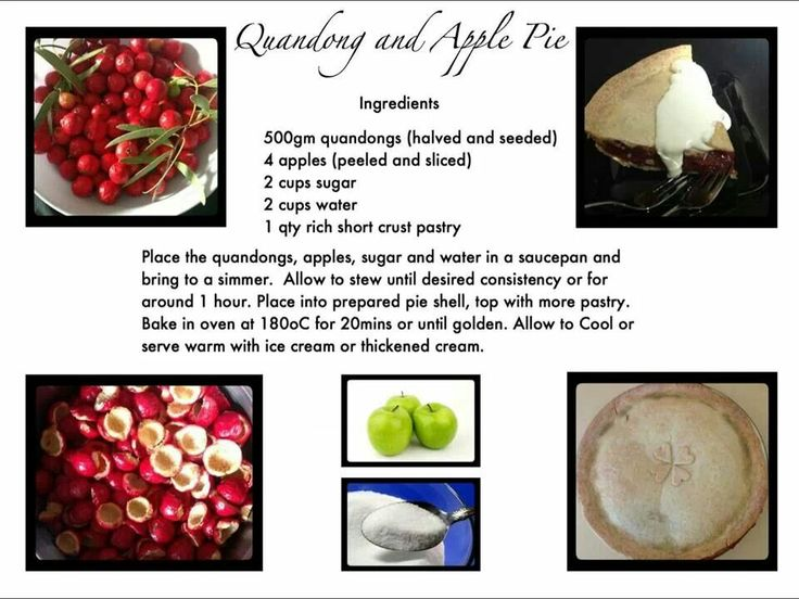 My Quandong and Apple pie recipe enjoy!