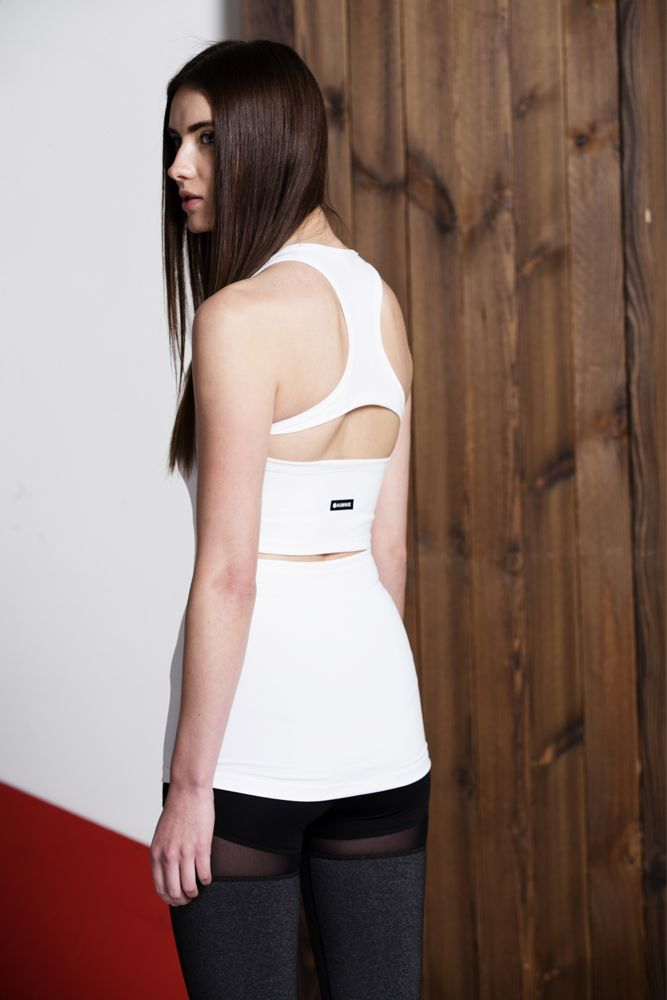 VORTEX TANK/ WHITE/ WHITE MESH// Other colors: Black/Black mesh// *FREE SHOPPING WORLDWIDE* sign up for 15% OFF the first purchase// SHOP NOW:https://aumnie.com/product/vortex-tank-whitewhite-mesh/
