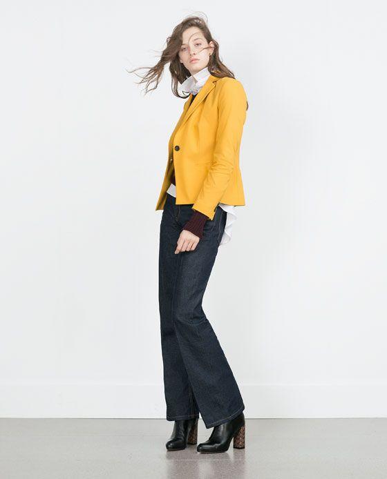 Image 1 de VESTE EN TISSU DOUBLE TOILE de Zara