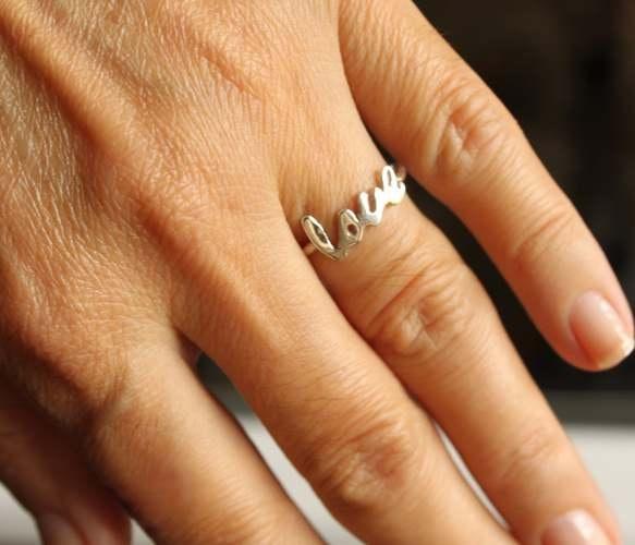 love ring sterling silver