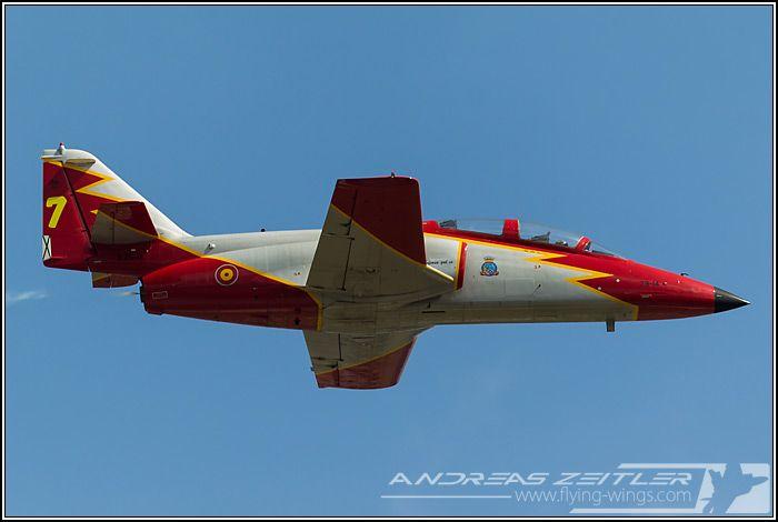 CASA C-101 Aviojet trainer of Spanish Air Force's Patrulla Aguila display team.