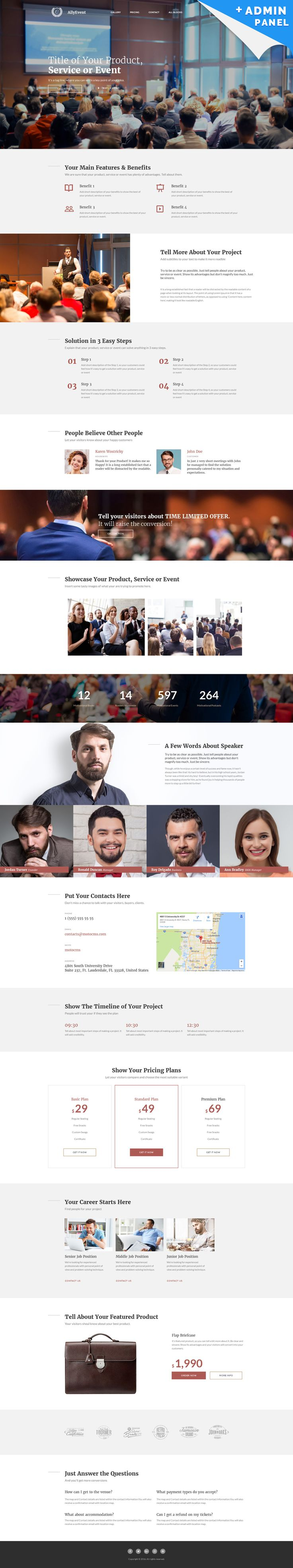Business Responsive Landing Page Template #59198