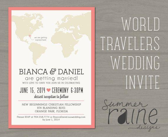 Voyageurs du monde mariage invitation imprimable par SummerRaine