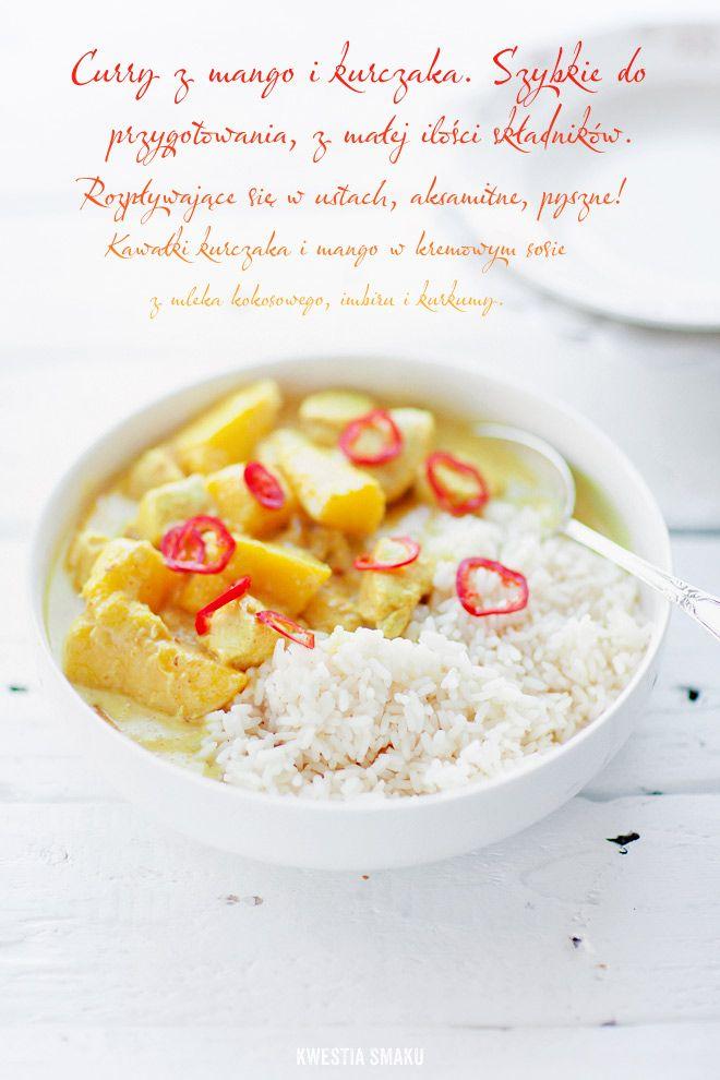 Curry z kurczaka i mango - Przepis