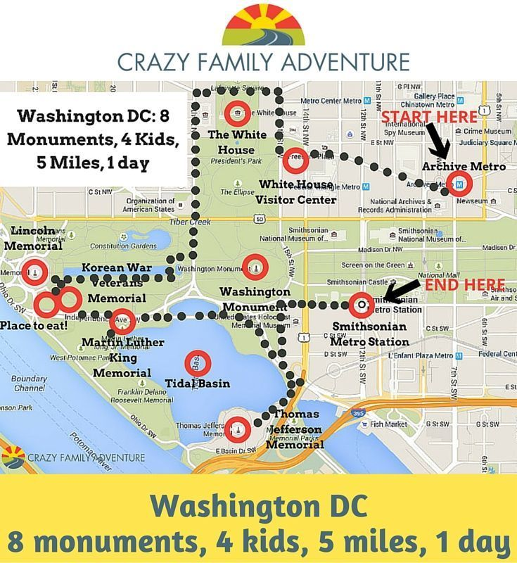 Traveling with your Family to Washington DC for 1 day can be a lot of fun and you can see a lot!