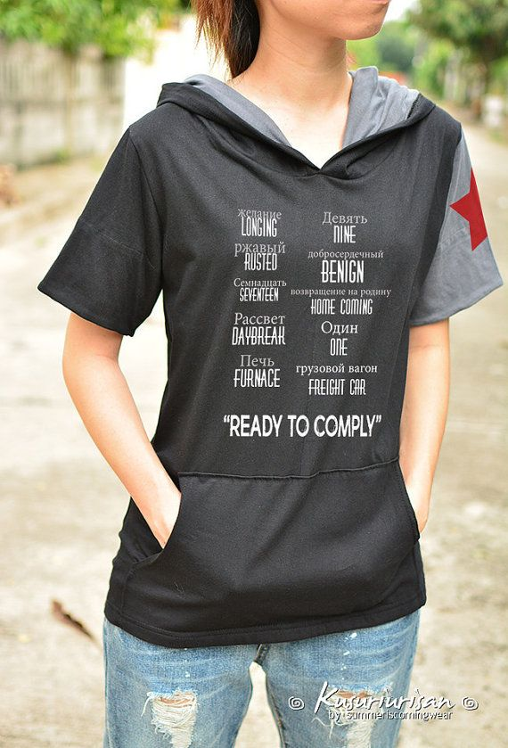 The winter Soldier Bucky Longing Rusted Seventeen Daybreak Furnace Nine Benign ready to comply Ver2 t shirt hoodie short sleeve