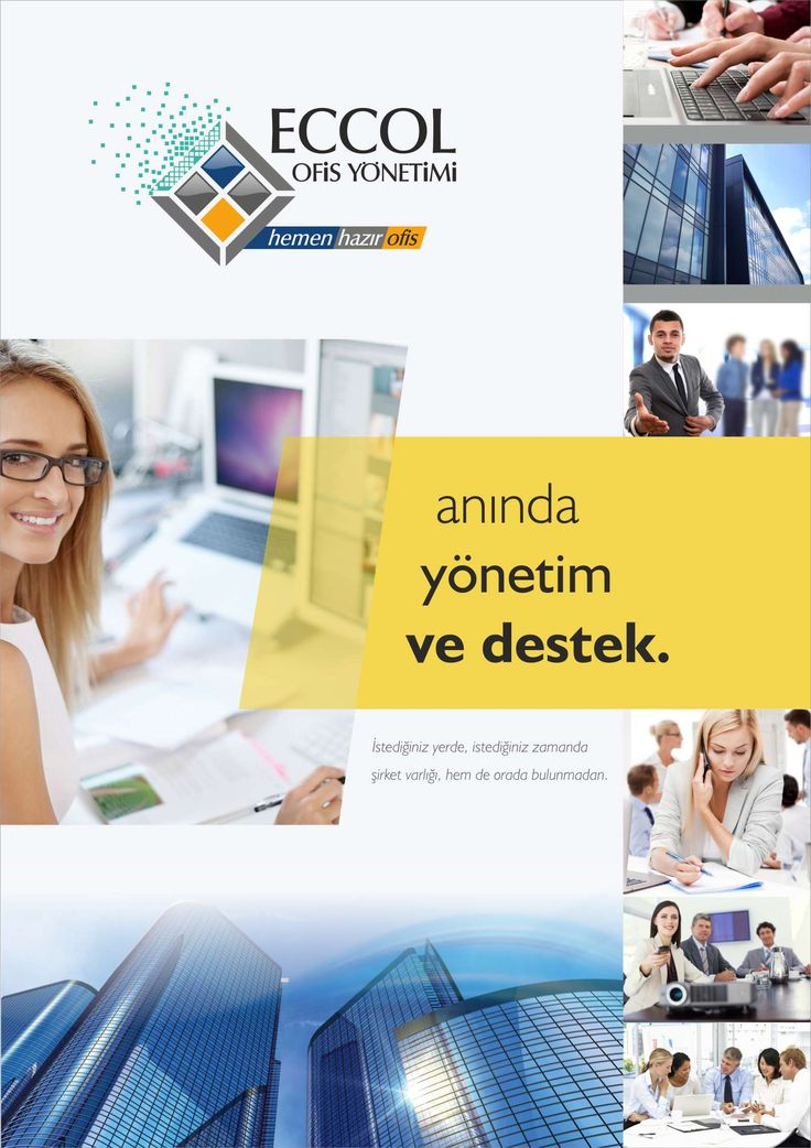 Virtual Office Management / Sanal Ofis Yönetimi Brochure Design / Broşür Tasarımı Eccol Ofis Yönetimi - Antalya