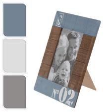 Photoframe wood 10x15cm(17x22,5cm) w/print, 3asst.color