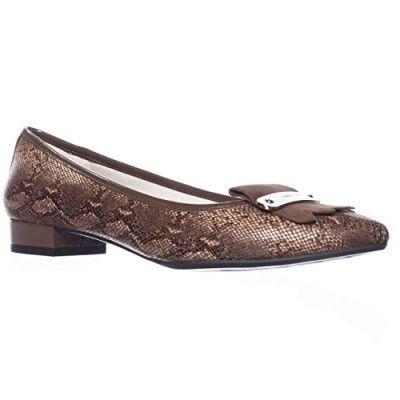 Anne Klein Kallima Low-Heel Loafers - Light Brown, 5 M US - - Flats - These Anne  Klein Flats comes in Light Brown with Fabric upper and inch heel.