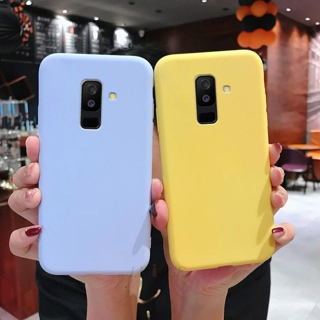 Candy Color Silicone Mobile Phone Case On For Samsung Galaxy A8 A6 Plus J8 J6 J4 Plus J2 Core 2018 Soft Silicone Phone Case Samsung Phone Cases Art Iphone Case
