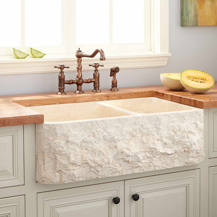 36 polished marble 6040 offset doublebowl farmhouse