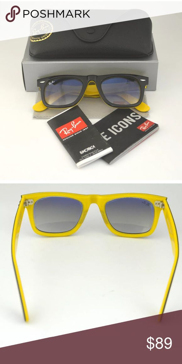Ray Ban Wayfarer sunglasses gorgeous! dark tortoise on outside and yellow inside Ray-Ban Accessories Glasses