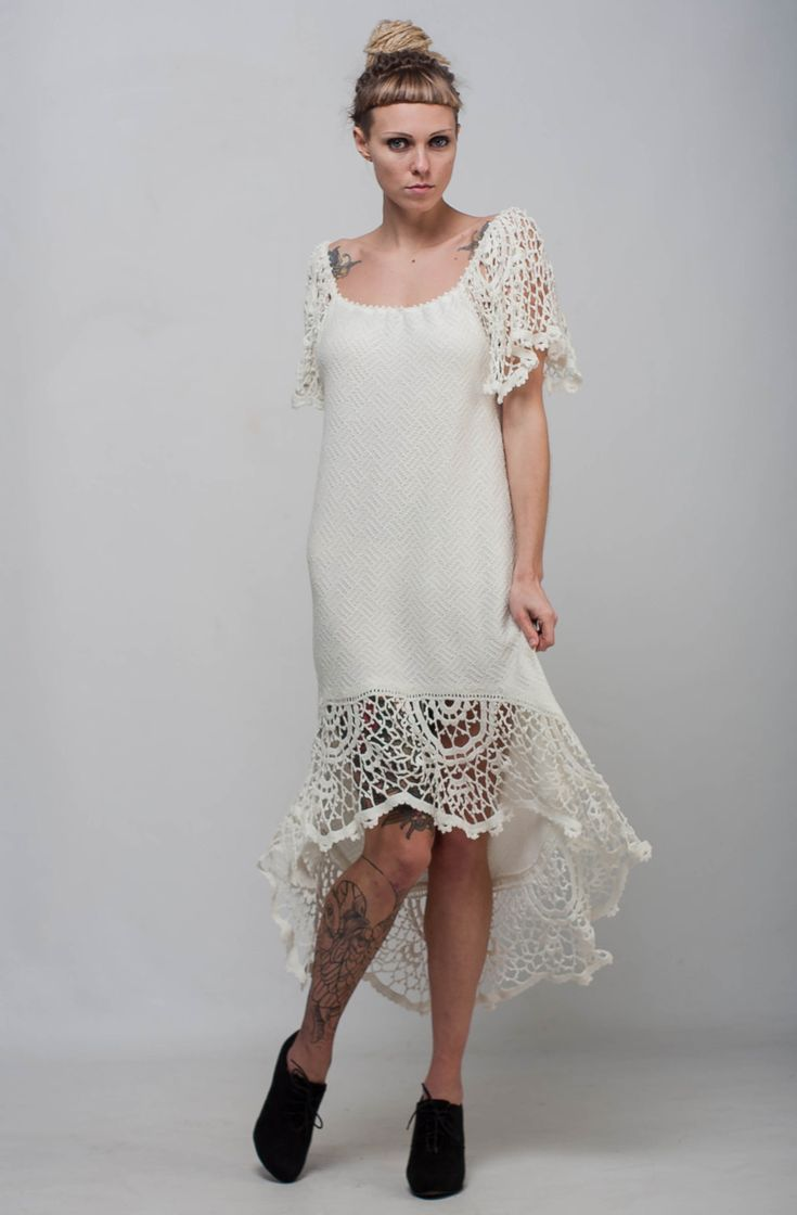 25 best ideas about crochet evening dresses on pinterest for Crochet wedding dresses for sale