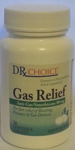 Dr Choice Gas Relief Anti Gas Simethicone 80mg 36 Chewable