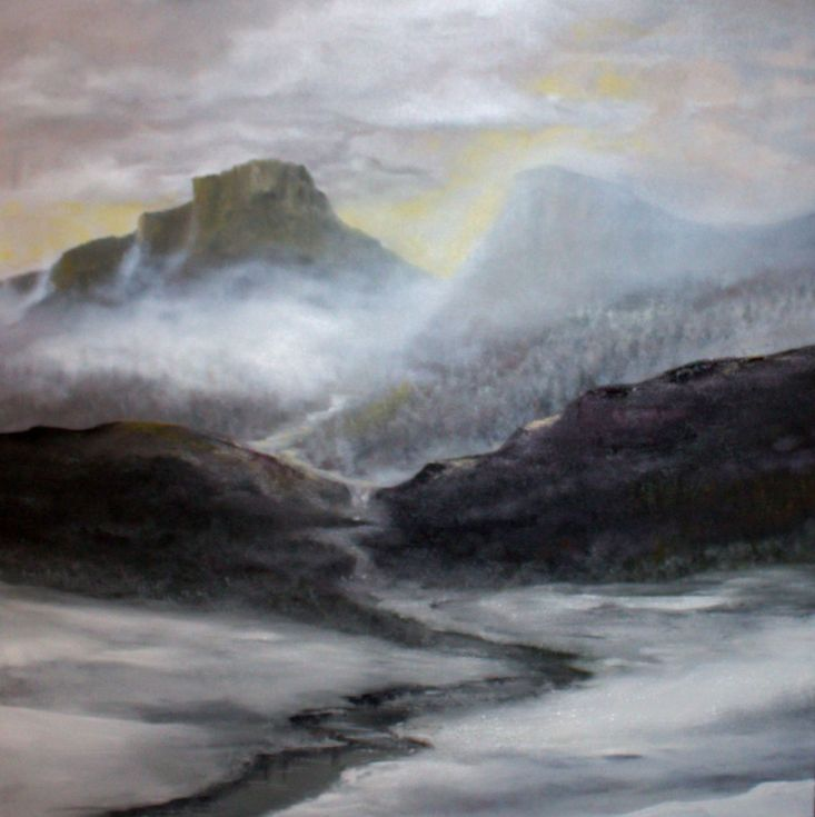 Buy Misty Mountains, Oil painting by Heidi Irene Kainulainen on Artfinder. Discover thousands of other original paintings, prints, sculptures and photography from independent artists.