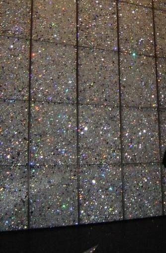 Glitter tile<3 LOVE! @Kathy Chan Chan Chan Chan Chan Chan Campbell If only dad would let me do this for my bathroom!!!!