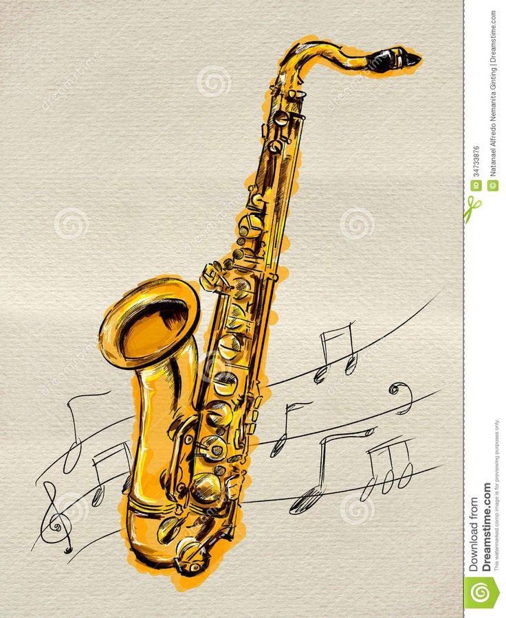 11 best images about saxofon on pinterest dibujo - Saxophone dessin ...