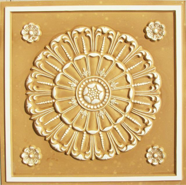"Decorative Ceiling Tiles, Inc. Store - Aegean Seashell - Faux Tin Ceiling Tile - 24""x24"" -"